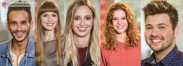 Бельгия: Опубликованы 5 участников Eurosong 2016.