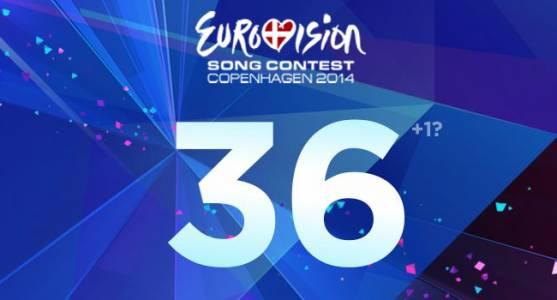 36 стран подтверждают участие в конкурсе Евровидение 2014.
