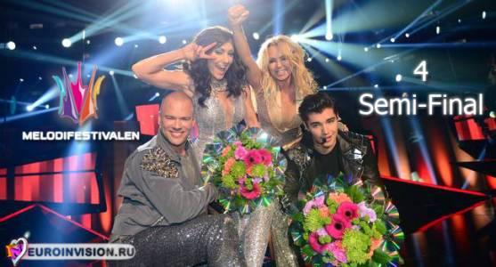 """Швеция: Итоги четвертого шоу """"Melodifestivalen 2014""""."""