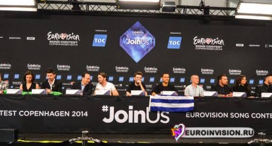 Жеребьевка и пресс-конференция победителей второго полуфинала Евровидения 2014.