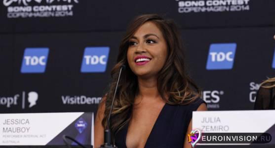 В Копенгагене состоялась пресс-конференция певицы - Jessica Mauboy.