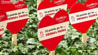 Венские парки принимают облик Евровидения 2015.