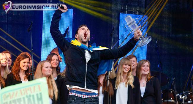 Как Швеция встречала героя Евровидения 2015.