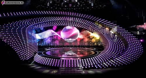 Сцена конкурса готова к Евровидению 2015.