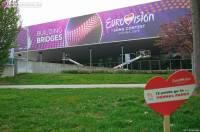 Арена Wiener Stadthalle начала преображаться к Евровидению 2015.